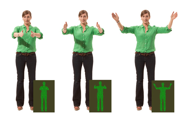 Microsoft Kinect features