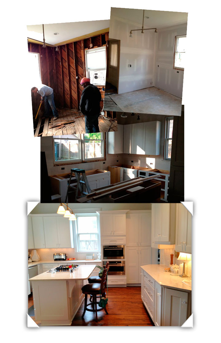 Progress of kitchen remodeling