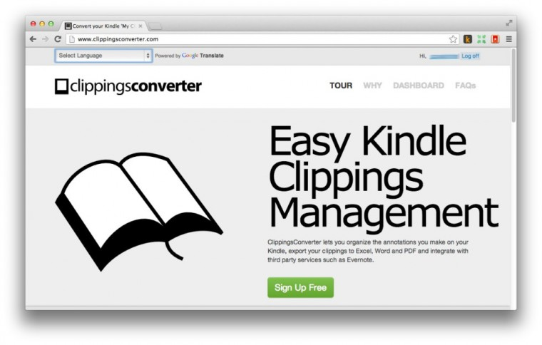 Clippings Converter for Kindle books