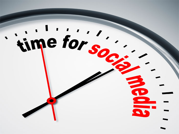 Schedule time for your social media