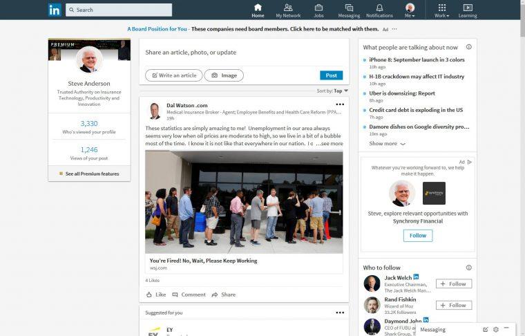 The New LinkedIn Windows Desktop App   Steve Anderson