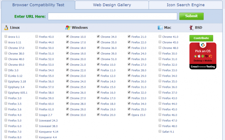 Browsershots Browser Testing
