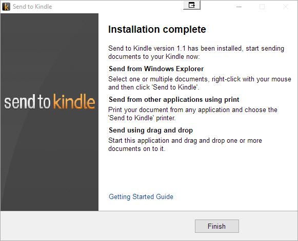 Send to Kindle Install