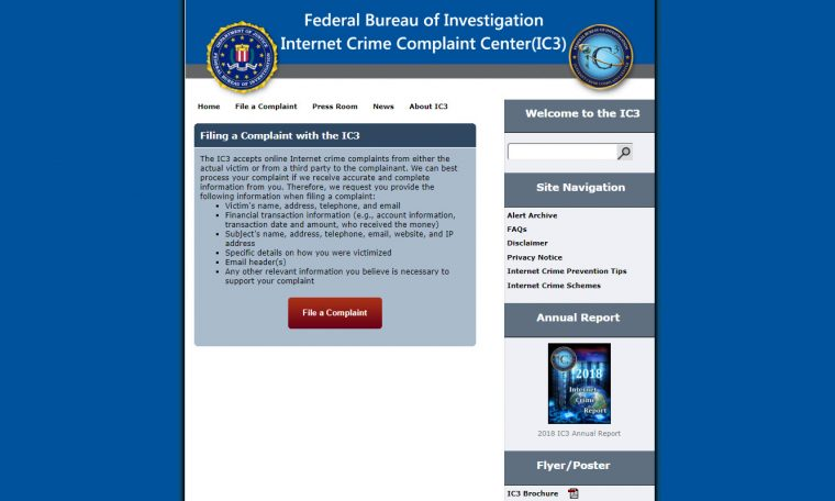 FBI Internet Crime Complaint Center