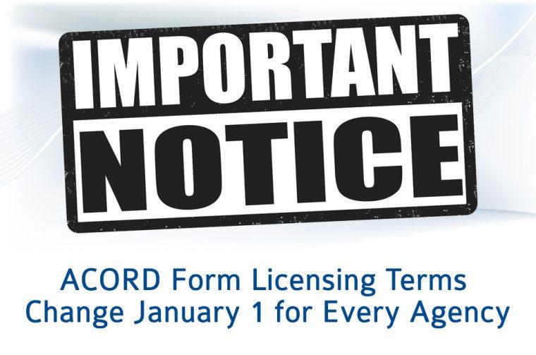 ACORD license change