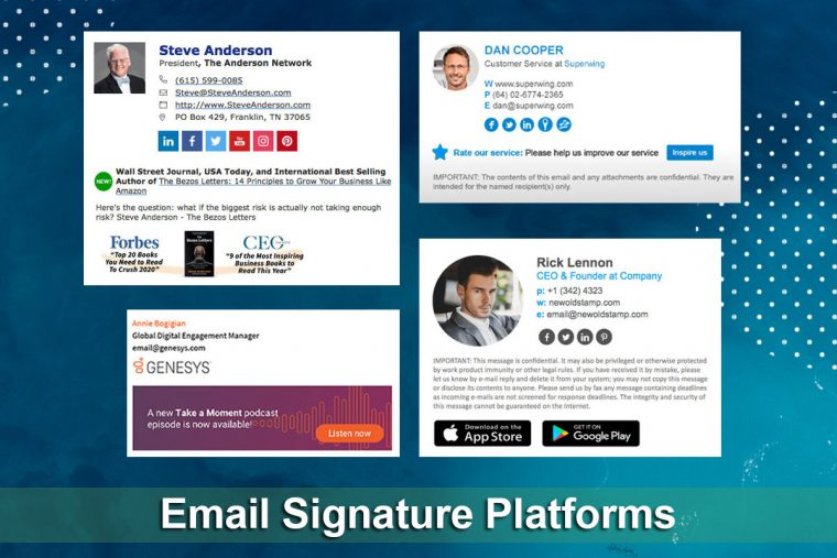 Email Signature Platforms