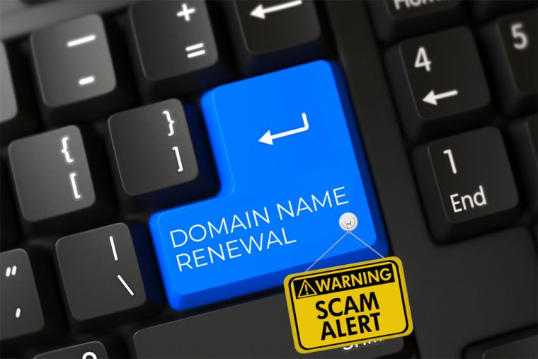domain renewal scams