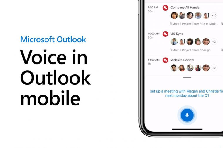 outlook mobile voice