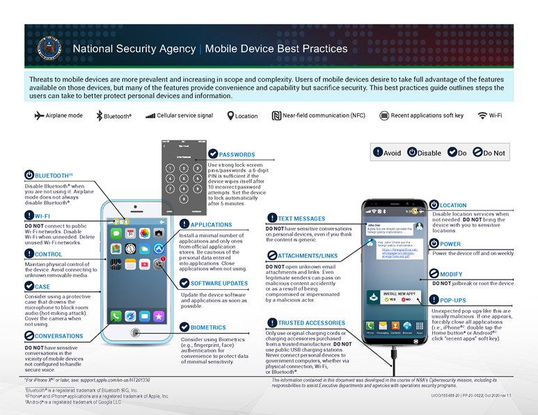 NSA Mobile Best Practices